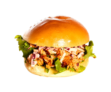 Foto Broodje Pulled Chicken
